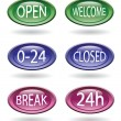 Set of store signs — Stock Vector