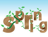 Coming Spring — Stock Vector