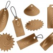 Stock Vector: Price tags in wood grain textures style