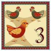 Los 12 días de navidad — Vector de stock