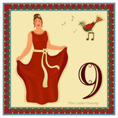 The 12 Days of Christmas — Vector de stock