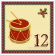 The 12 Days of Christmas - Image vectorielle