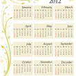 Calendar 2012 - USA - Stock Vector
