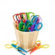 Colorful crafts scissors — Stok fotoğraf