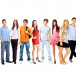 Big group young — Stock Photo #5260861