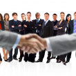 Handshake isolated on business background — Stock Photo #5260866