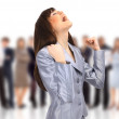 Young energetic business woman — Stock Photo