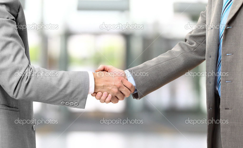 Photo of handshake of business partners after striking deal   Stock Photo #5260863