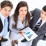 Skupina jistý podnikání projednávání návrhů na plány — Stock fotografie