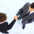 Business handshake and trust taken from above — Stock Photo