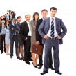 Business man and his team isolated over a white background — Stock Photo #5303743