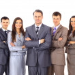 Business team and a leader - Mature business man with his colleagues in the — Foto de Stock