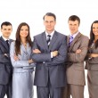 Business team and a leader - Mature business man with his colleagues in the — Stock Photo