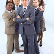 Stock Photo: Multi ethnic mixed adults corporate business team