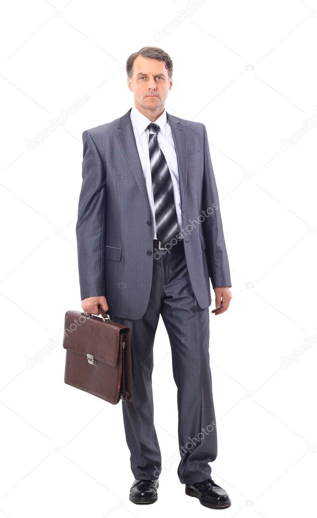 Full-length portrait of stylish businessman — Stock Photo #5353587