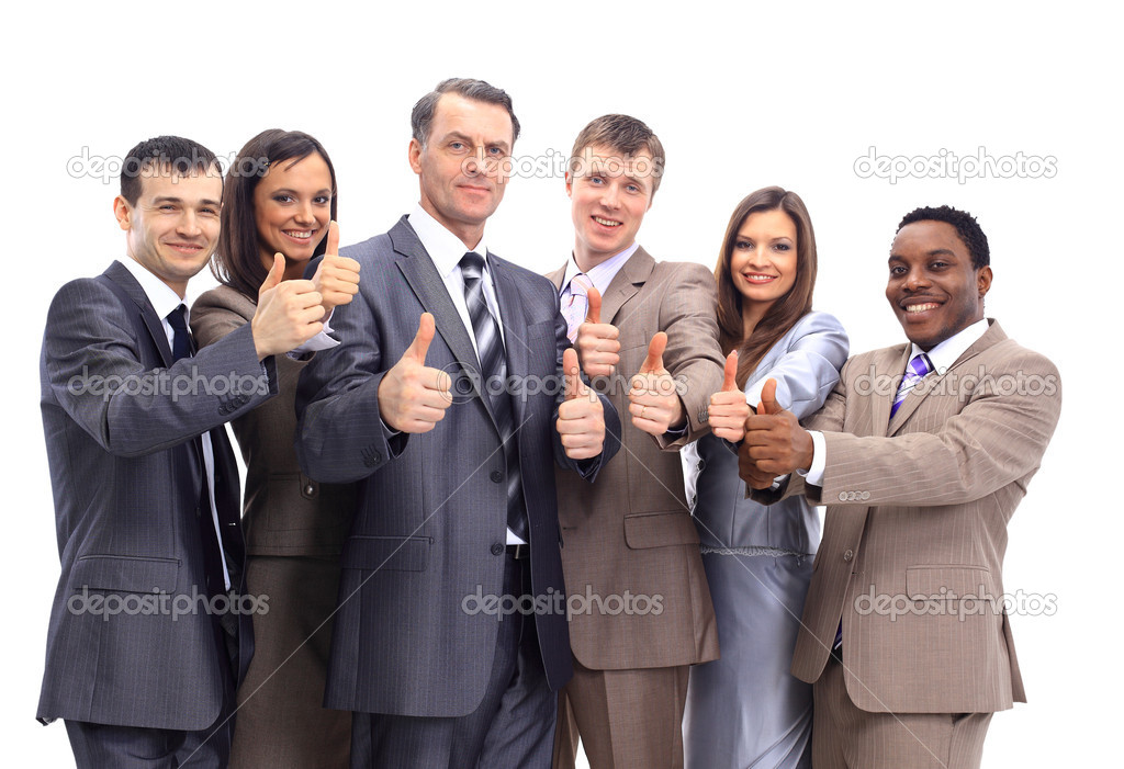 Excited group of business -isolated — Stock Photo #5353801