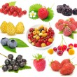 Stock Photo: Set of Fresh Berries