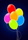Çok renkli Parti balonları — Stok fotoğraf
