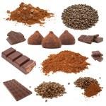 conjunto de chocolate y café — Foto de Stock