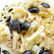 Rice Salad with Cheese, Onion, And Black Olives — Stock Photo #4547182