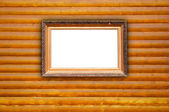 Vintage Frame on Wood Background — Stock Photo