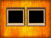 Two Blank Frames on Wall — Stock Photo