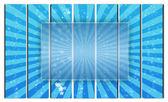 Transparent Frame on Blue Background — Stock Photo
