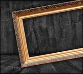 Blank Picture Frame in Dark Room — Stock Photo