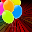 Holiday Background with Multicolored Balloons — Stock Photo