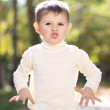 Closeup portrait of beautiful little boy — Stock Photo