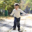 Little boy runs in a summer park — Stock Photo #4084705