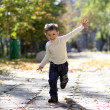 Royalty-Free Stock Photo: Little boy runs in a summer park