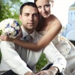 Wedding shot of bride — Stock Photo
