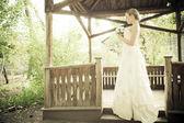 Portret van de jonge mooie bruid — Stockfoto