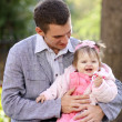 Father and his adorable little daughter — Stock Photo