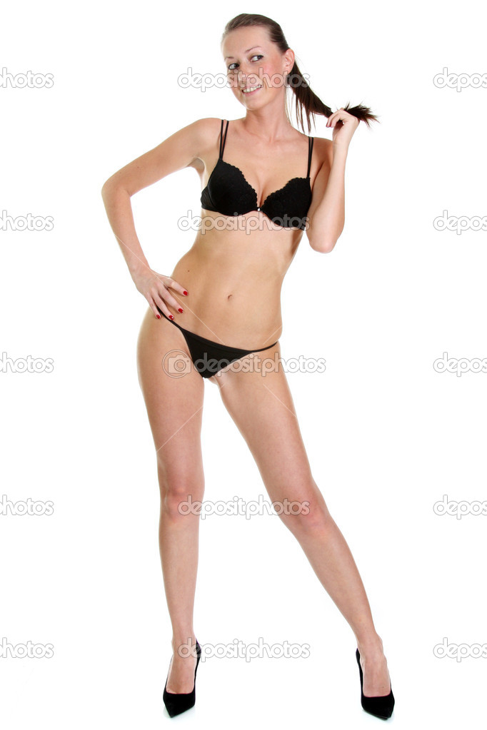 Young beautiful woman in underwear   Stock Photo #4606447