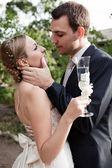 Wedding shot of bride — Stock Photo