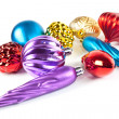 Christmas toys and balls — Stock Photo
