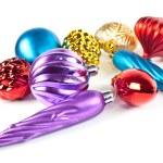 Christmas toys and balls — Stock Photo