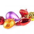 Varicoloured christmas toys — Stock Photo
