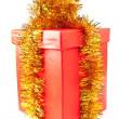 rote geschenk-box — Stockfoto
