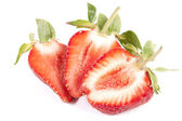 Cut strawberry — Stock Photo