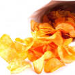 Bag of fried Potato Chips - Stock Photo