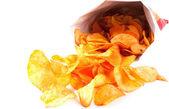 Bag of fried Potato Chips — Stock Photo