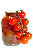 Fresh garden tomatoes — Stock Photo