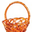 Wicker basket isolated - Stock Photo