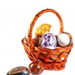 Royalty-Free Stock Photo: Easter eggs in basket