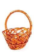 Wicker basket isolated — Stock Photo