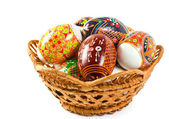 Ukrainian folk patterns Easter eggs — Stock Photo