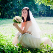Stock Photo: Bride portrait